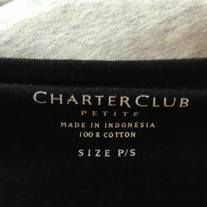 Charter Club Tops - Charter club knit jersey boat neck tunic top